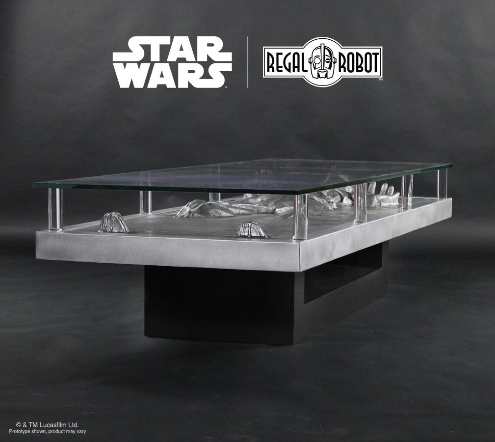 Han solo carbonite coffee table regal robot han solo prop table colourmoves