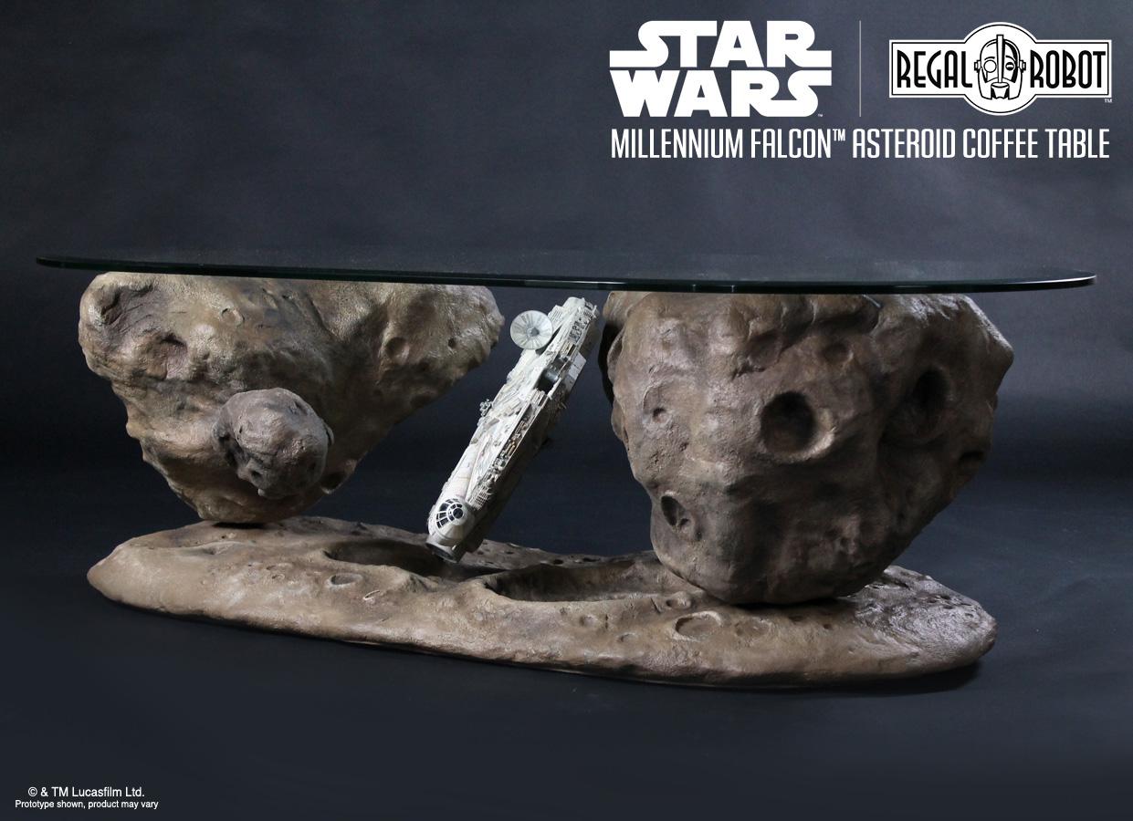 Millennium Falcon Asteroid Coffee Table Regal Robot