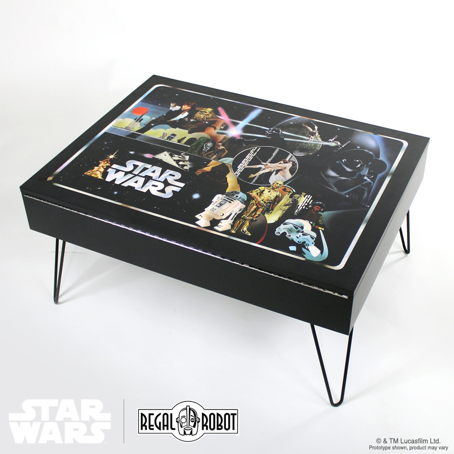 Classic Collector Case Storage Table Regal Robot