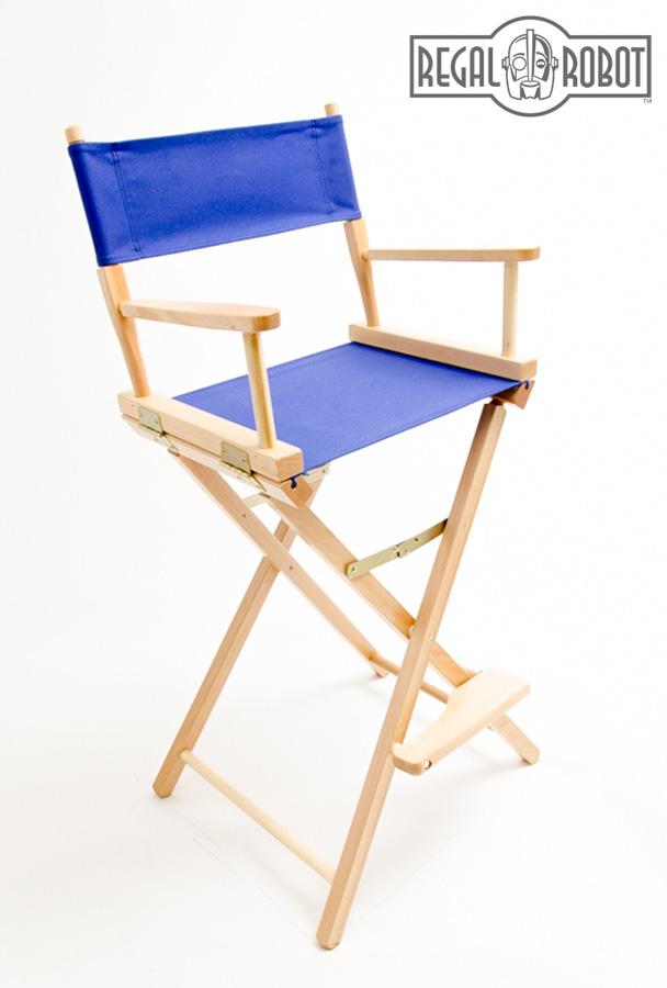 Attirant Contemporary Folding Directors Chair Made In The USA