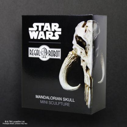 Bantha Skull or Mandalorian Skull mini sculpture by Regal Robot