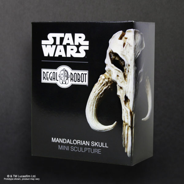 Bantha Skull or Mandalorian Skull mini sculpture by Regal Robot