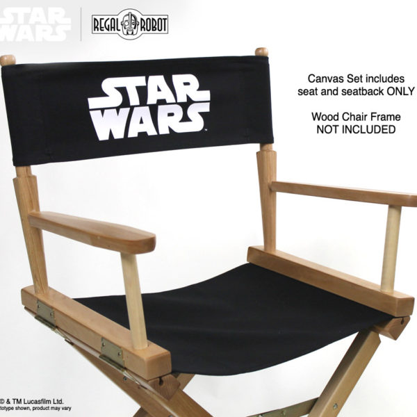 Star Wars movie director chair canvas set