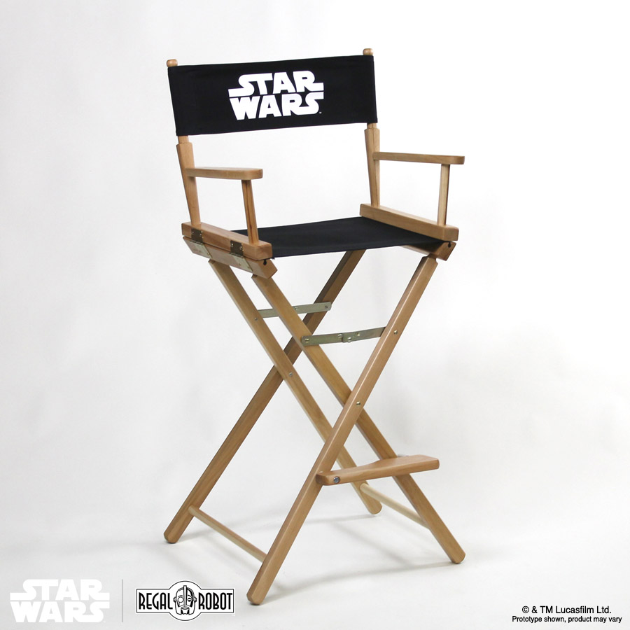 Star Wars Logo Director Chair Bar Height