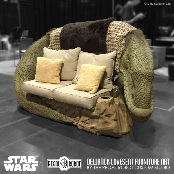Hand carved custom Star wars furniture