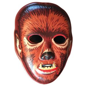 wolfman halloween vacuform mask as wall art