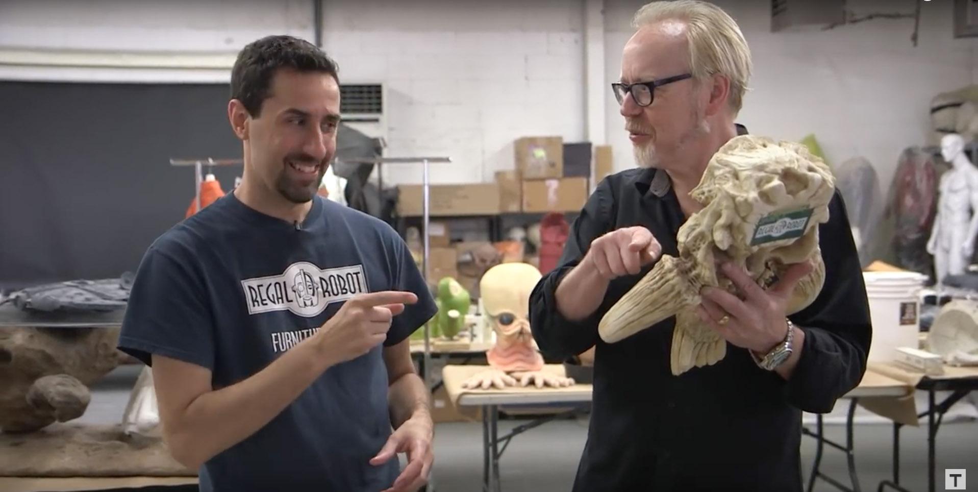 Mandalorian Skull and Adam Savage