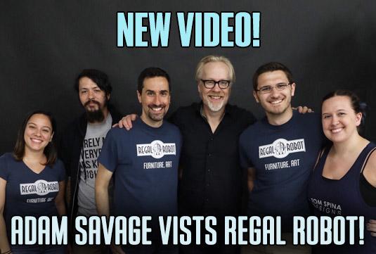 Adam Savage at Regal Robot studio