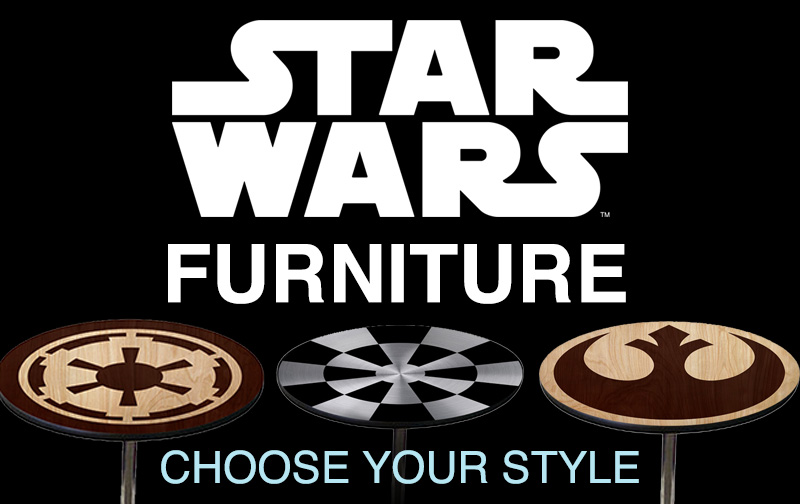 star wars tables imperial and rebel symbols