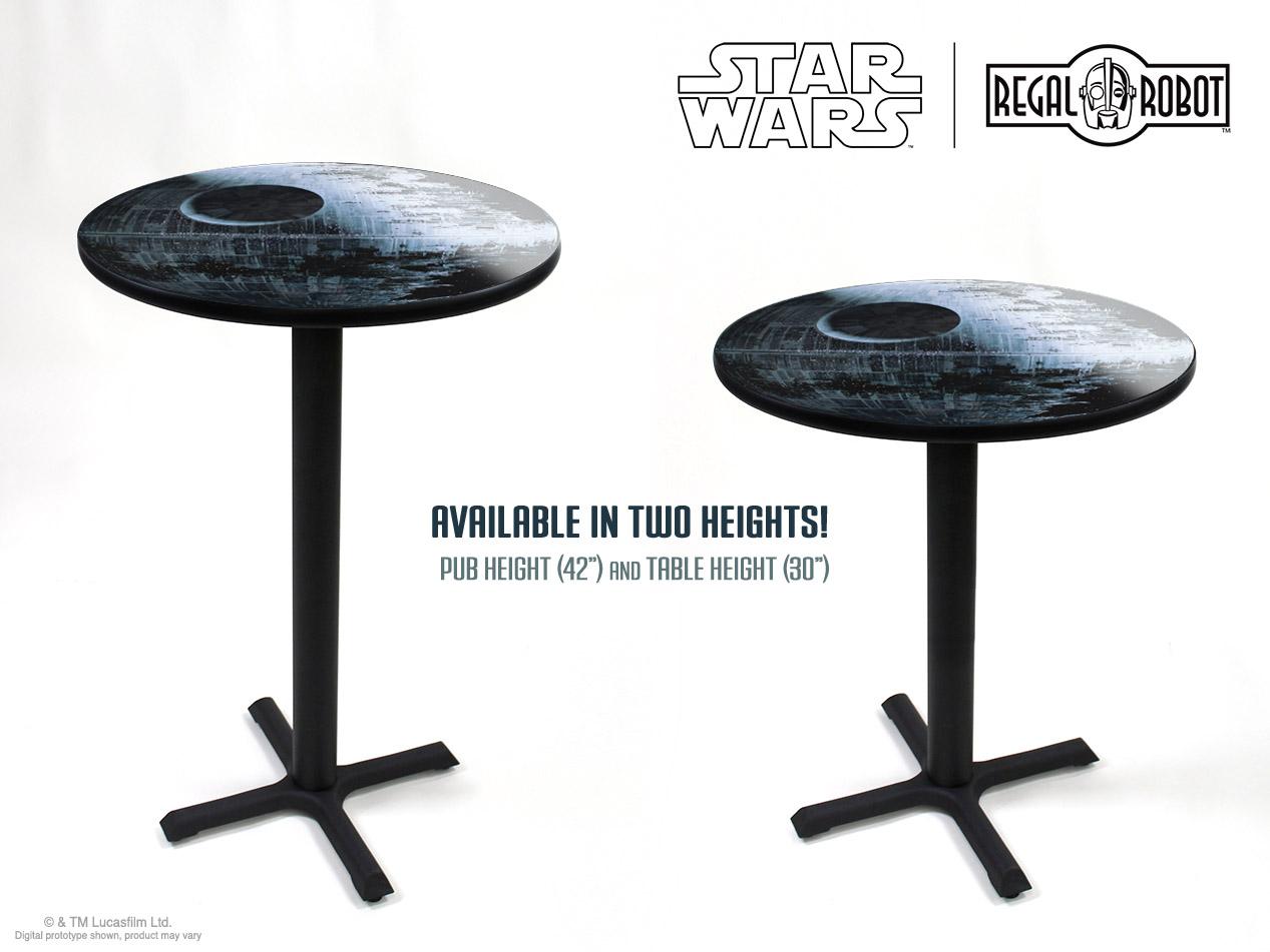 Death Star Ii Cafe Table Regal Robot