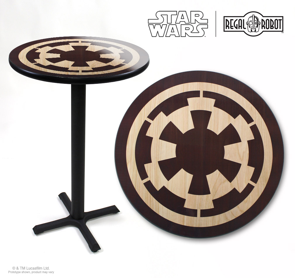 Star Wars Imperial Symbol photo top pub table