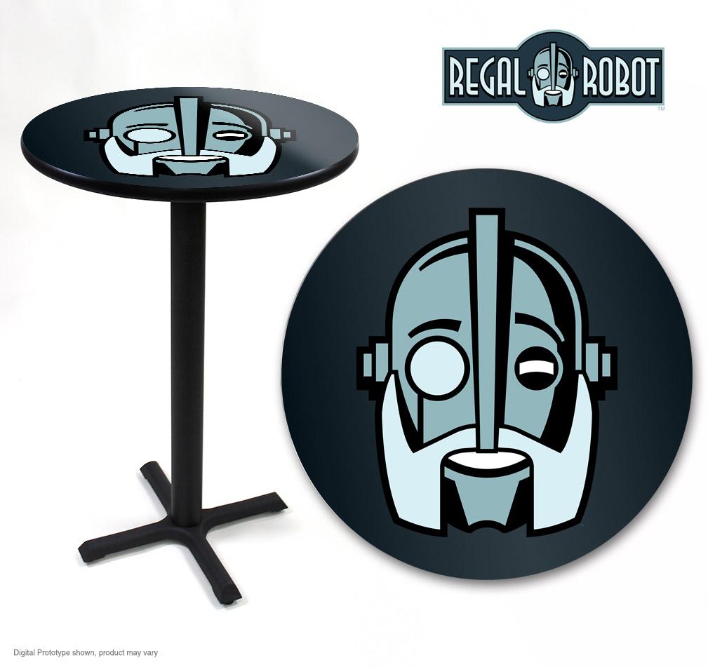 Regal robot logo top cafe bar table regal robot for Table table logo