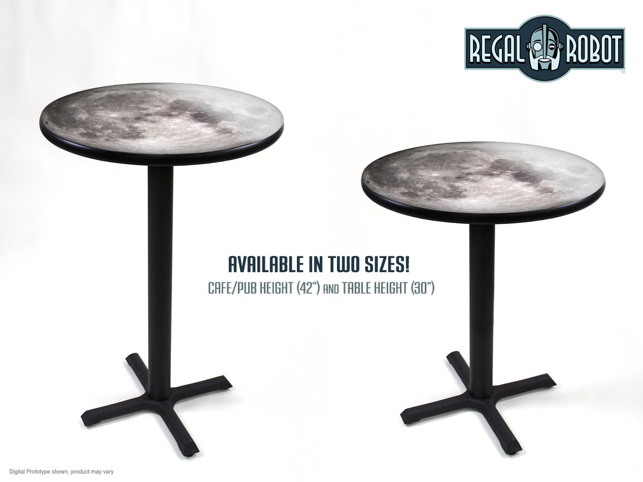 Full Moon Photo Top Cafe Amp Bar Table Regal Robot