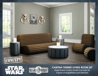 Star Wars cantina benches, chairs and tables