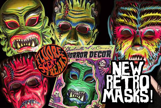 Retroaogog wall decor masks
