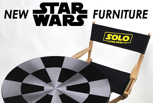 Han Solo Movie Director chair and table
