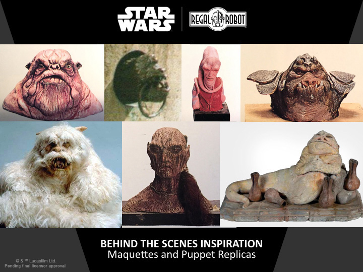 star wars movie maquette sculptures
