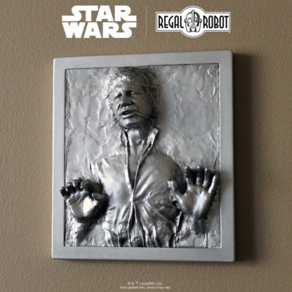 Scaled Han Solo in Carbonite figure plaque for wall decor