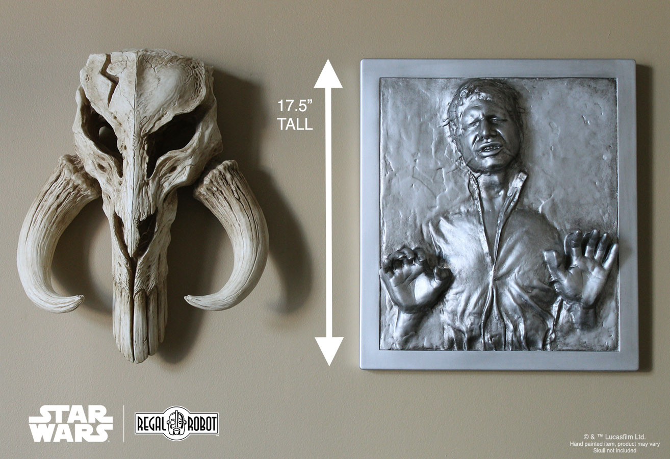 Scaled Han Solo In Carbonite Plaque Wall Decor Regal Robot