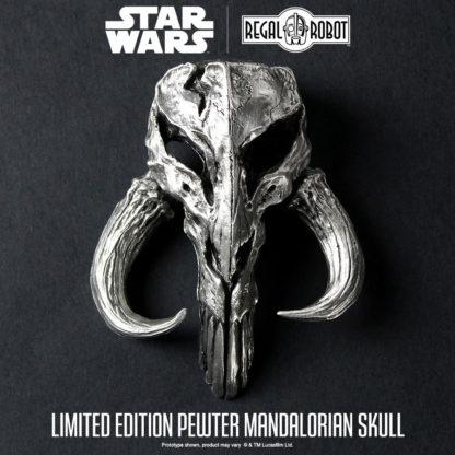 Pewter mythosaur skull or bantha skull sculpture in pewter
