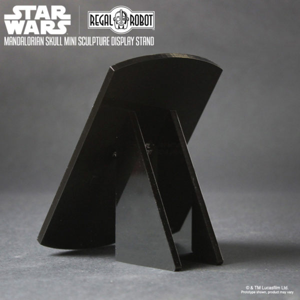 acrylic display stand for Mandalorian skull mini sculpture