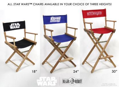 Star Wars logo director chairs.