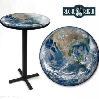 Earth photo printed top table