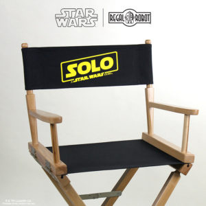 folding director chair with Star Wars logo