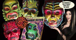 Retroagogo wall decor monster masks