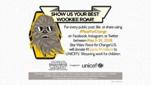 Chewbacca's roar for change